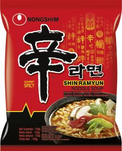 Nong Shim Instant Nudelsuppe Shin Ramyun (120 g) - 8801043150620