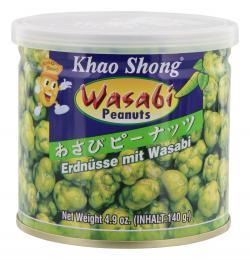 Khao Shong Erdnüsse mit Wasabi (140 g) - 8850043324623