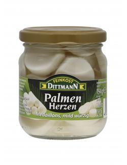 Feinkost Dittmann Palmenherzen Medaillons, mild würzig (105 g) - 4002239685429