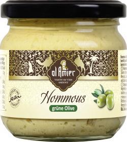 Al Amier Hommous mit grünen Oliven
