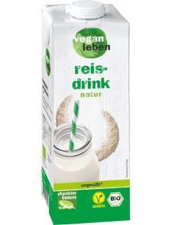 Vegan leben Reis Drink natur
