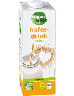 Vegan leben Bio Hafer Drink natur