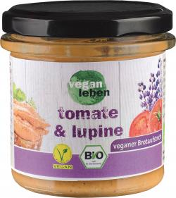 Vegan leben Brotaufstrich Tomate & Lupine