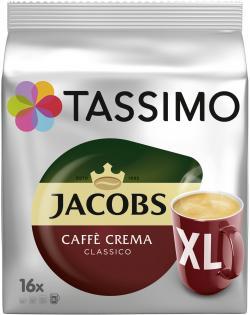 Tassimo Kapseln Jacobs Caffè Crema classico XL, 16 Kaffeekapseln