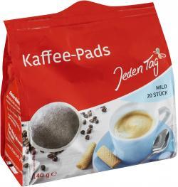 Jeden Tag Kaffee-Pads mild