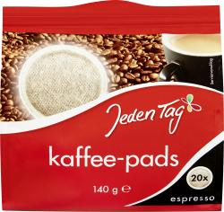 Jeden Tag Kaffeepads kräftig