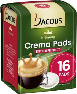 Jacobs Krönung Crema Pads entkoffeiniert (105 g) - 7622210048448