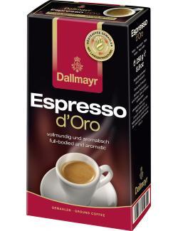 Dallmayr Espresso d'Oro gemahlen