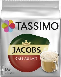Tassimo Kapseln Jacobs Café au Lait, 16 Kaffeekapseln