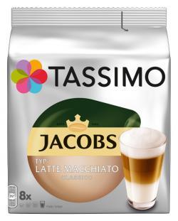Tassimo Kapseln Jacobs Latte Macchiato classico, 8 Kaffeekapseln