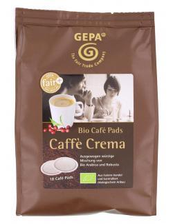 Gepa Bio Café Pads Caffè Crema (18 x 7 g) - 4013320298756
