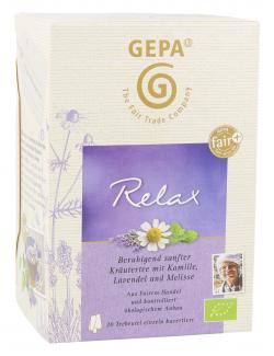 Gepa Bio Teebeutel Relax (20 x 1,50 g) - 4013320287194