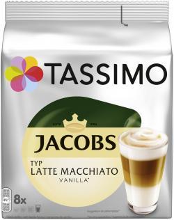 Tassimo Kapseln Jacobs Latte Macchiato Vanilla, 8 Kaffeekapseln