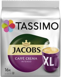 Tassimo Kapseln Jacobs Caffè Crema intenso XL, 16 Kaffeekapseln