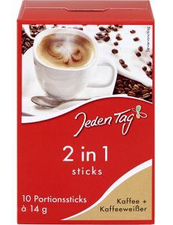 Jeden Tag 2in1 Sticks Kaffee + Kaffeeweißer