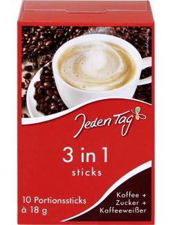 Jeden Tag 3in1 Sticks Kaffee + Zucker + Kaffeeweißer
