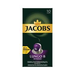 Jacobs Kaffeekapseln Lungo 8 Intenso, 10 Nespresso®* kompatible Kapseln