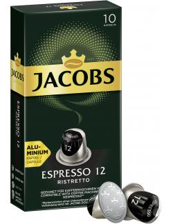 Jacobs Kaffeekapseln Espresso 12 Ristretto, 10 Nespresso®* kompatible Kapseln