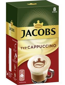 Jacobs Cappuccino, 8 Sticks mit Instant Kaffee