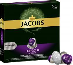 Jacobs Kaffeekapseln Lungo 8 Intenso, 20 Nespresso®* kompatible Kapseln