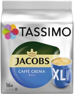 Tassimo Kapseln Jacobs Caffè Crema mild XL Becher, 16 Kapseln