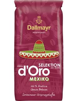 Dallmayr Crema d'Oro Selektion des Jahres Mexiko ganze Bohne