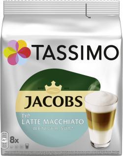 Jacobs Kapseln Tassimo Latte Macchiato weniger süß, 8 Kaffeekapseln