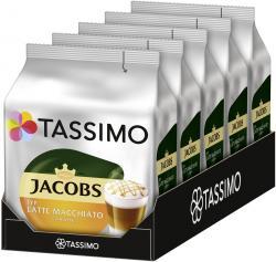 Tassimo Kapseln Jacobs Latte Macchiato Caramel, 5 x 8 Kaffeekapseln