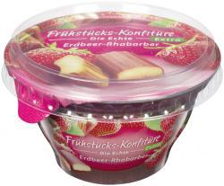 Frühstücks-Konfitüre die Echte Extra Erdbeer-Rhabarber (200 g) - 4002575327472
