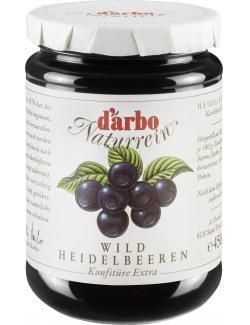 Darbo Naturrein Wildheidelbeer Konfitüre extra (450 g) - 9001432002281