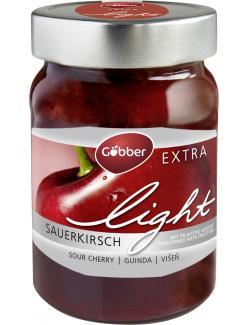 Göbber Extra Light Fruchtaufstrich Sauerkirsche (430 g) - 4054600320033