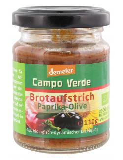 Demeter Campo verde Brotaufstrich Paprika Olive (110 g) - 4045178004012
