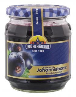 Mühlhäuser Konfitüre Schwarze Johannisbeere (340 g) - 4026701020303