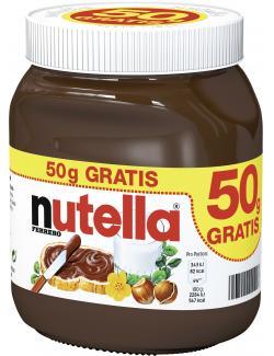 Nutella Nuss-Nougat-Creme +50 g gratis