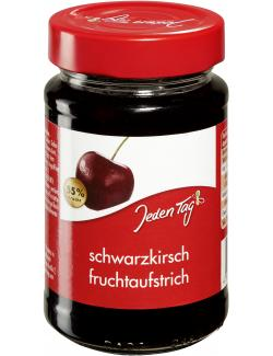 Jeden Tag Fruchtaufstrich Schwarzkirsche (250 g) - 4306188350446