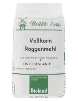 Mühle Erks Bioland Vollkorn Roggenmehl