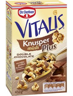 Dr. Oetker Vitalis Knuspermüsli Plus Double Chocolate