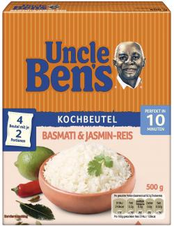 Uncle Ben's Basmati & Jasmin Reis (500 g) - 5410673709042