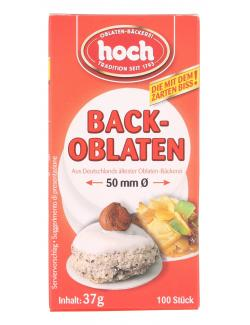 Hoch Backoblaten 50mm