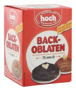 Hoch Backoblaten 70mm