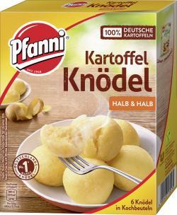 Pfanni Kartoffelknödel in Kochbeuteln halb & halb
