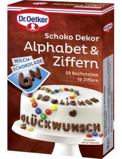 Dr. Oetker Schoko Dekor Alphabet & Ziffern Milchschokolade (58 g) - 4000521006709