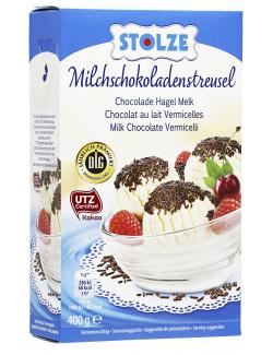 Stolze Milchschokoladenstreusel