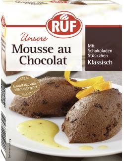 Ruf Mousse au Chocolat mit Schokoladen Stückchen klassisch (100 g) - 4002809001109