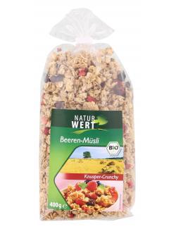 NaturWert Bio Beeren-Müsli Knusper-Crunchy (400 g) - 4000446037581