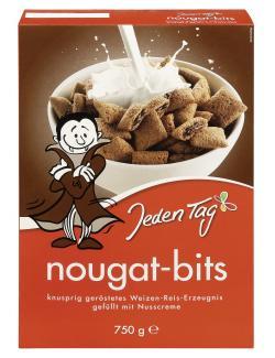 Jeden Tag Nougat-Bits