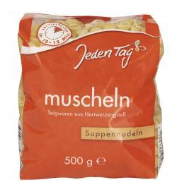 Jeden Tag Suppennudeln Muscheln (500 g) - 4306188048251