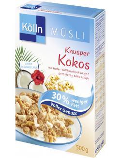 Kölln Müsli Knusper Kokos 30% weniger Fett (500 g) - 4000540003529