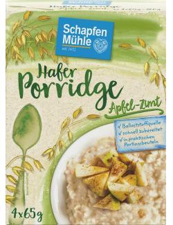 Schapfenmühle Porridge Hafermahlzeit Apfel-Zimt