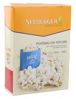 Seeberger Mikrowellen Popcorn salzig (3 x 100 g) - 4008258527016